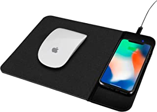 Venoro Qi Wireless Charging Mouse Pad - Wireless Charger Mouse Mat for Samsung Galaxy S10e S10+ Note 8 S9 S9+ S8 S8+ S7 Edge, iPhone 11 Pro Max, XS Max, XR, XS,8,7, 8 Plus & All Qi Enabled Devices