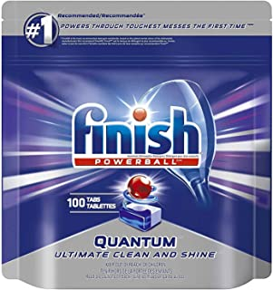 Finish Quantum Max Fresh, Automatic Dishwasher Detergent Tabs Mega Value Pack (100 Tablets)
