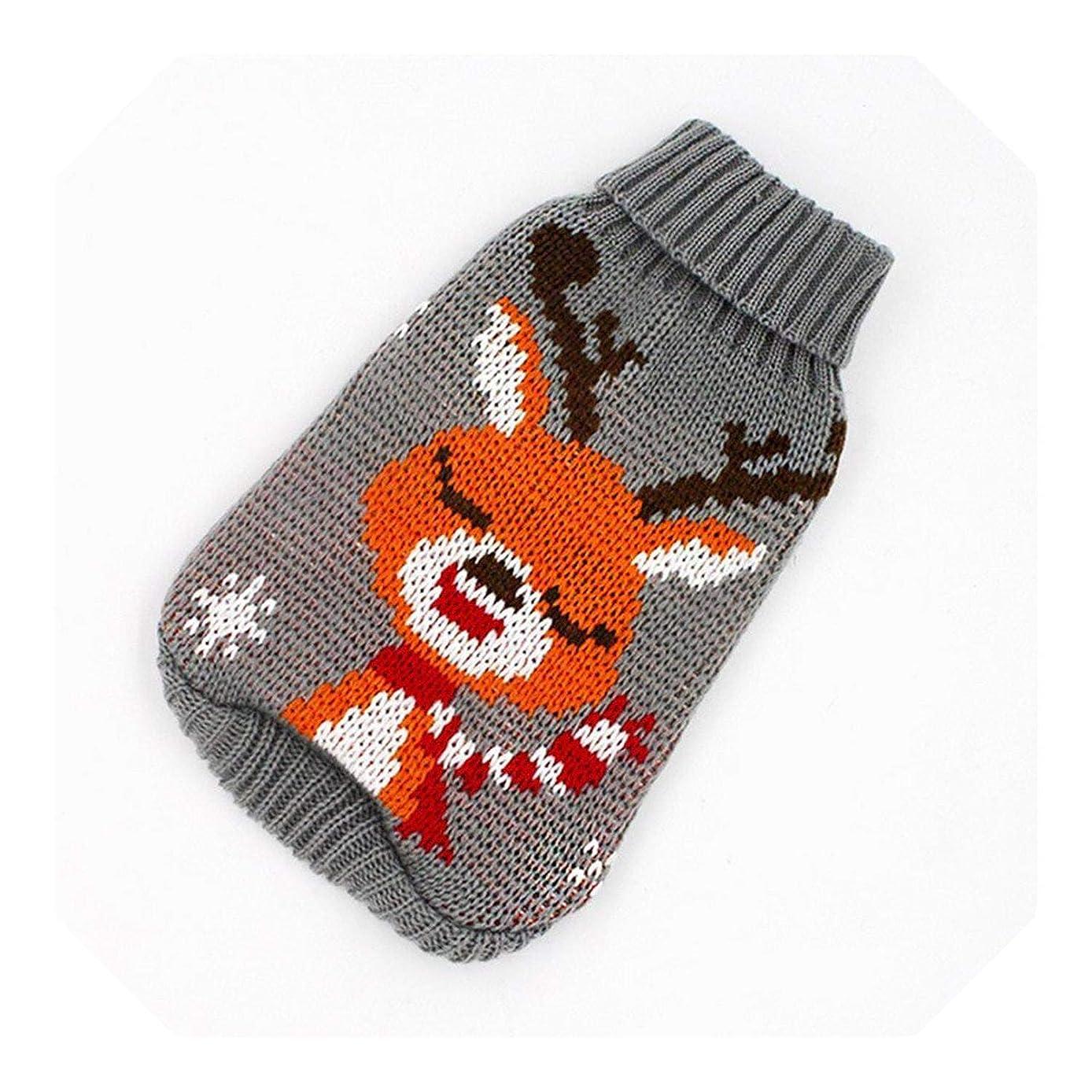 影のあるマニフェスト入学する女の子Xs犬服暖かい冬の漫画の犬の服暖かいクリスマスセーター小型犬ペット服コート編みかぎ針編み布-08-M、