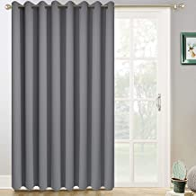 Yakamok Gray Thermal Blackout Patio Door Curtain Panel, Room Darkening Sliding Door Insulated Curtains,Vertical Blinds with Grommets,Outside Curtain for Patio & Hall Room(Grey, 100 x 96 Inch,1 Panel)