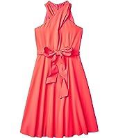 Crisscross Neck Dress