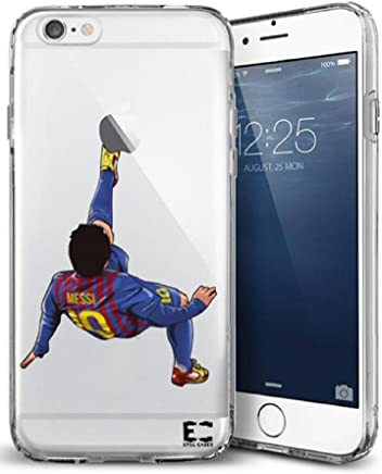 Epic Cases iPhone Case for Apple iPhone, Ultra Slim Transparent Dominate The Futbol Pitch Series - Leo Messi Clear (iPhone 6)