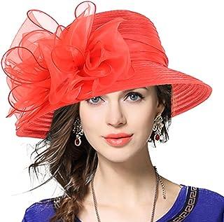 VECRY Lady Derby Dress Church Cloche Hat Bow Bucket Wedding Bowler Hats 2a7b55064591