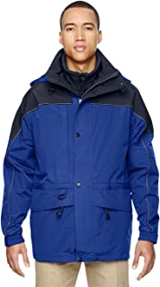 North End North End Mens 3-In-1 Two-Tone Parka ryal Cobalt 714 XL Ash City