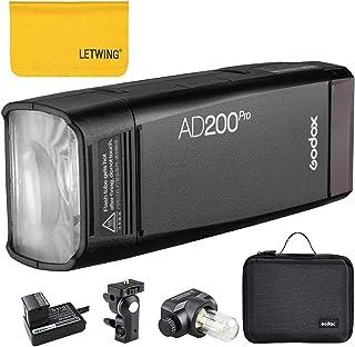 Godox AD200Pro Nueva versión Pocket Flash Light 200W 2.4G TTL HSS 1 / 8000s 0.01-1.8s Reciclaje Doble luz Cabeza estrobosc...
