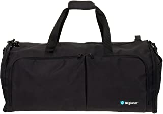 Carry On Suit Travel Bag by Baglane - Military Garment Bag (Black)