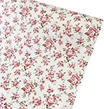 SimpleLife4U Rural Floral Shelving Paper Decorative Self-Adhesive Shelf Liner Drawer..