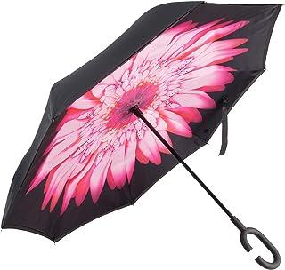amrzzi 逆さ傘 逆折り式傘 自立傘 長傘 手離れC型手元 耐風 撥水加工 晴雨兼用 ビジネス用 車用 UVカット 100 遮光遮熱