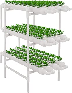 DreamJoy 3 Layers 108 Plant Sites Hydroponic Site Grow Kit 12 Pipes Hydroponic Growing System Water Culture Garden Plant S...
