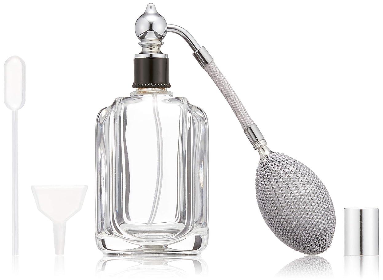 会員誤解させるカテゴリーヒロセアトマイザー フランス製香水瓶50ML メンズアトマイザーkuro 409873SS (50MLタクジョウ) CLSS