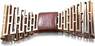 HatynkaUA Wooden Bow Tie - 3D Unique Design Holiday Wedding Wood Bowtie- Mens Necktie