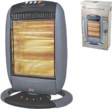 DCG Eltronic SA9223 - Calefactor (Calentador halógeno, Piso, Negro, Gris, Botones, 1200 W, 400 W)
