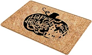 Hand Wasbare Polyester Brief Halloween Flanellen Deur Voor Antislip Pluizige Tapijt Badkamer Foyer Pluizige Mat