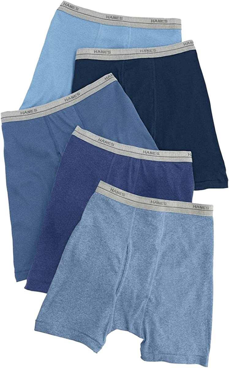Hanes Boys Boxer Brief 5-Pack_Assorted Solid Dyed Heathers_X-Large