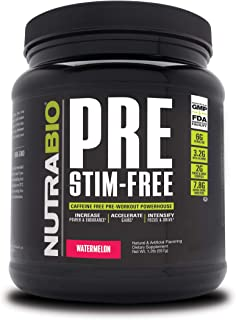 NutraBio PRE Stim Free - Caffeine Free Pre Workout (Watermelon)