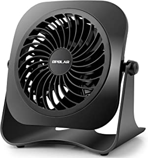 OPOLAR 10-1000-F611 4 Inch Mini USB Desk Fan, 2 Speeds, Lower Noise, USB Powered, 360° Up and Down, 3.8 ft Cable, Powerful...