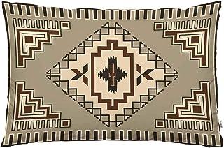EKOBLA Throw Pillow Cover Vintage Southwest Native American Retro Tribal Design Aztec Antique Boho Ikat Decor Lumbar Pillo...