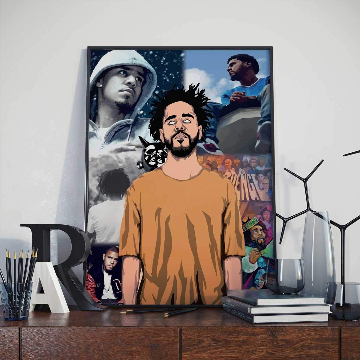 J Cole Poster Compilation Max 85% OFF A2 Ranking TOP17 Size Print