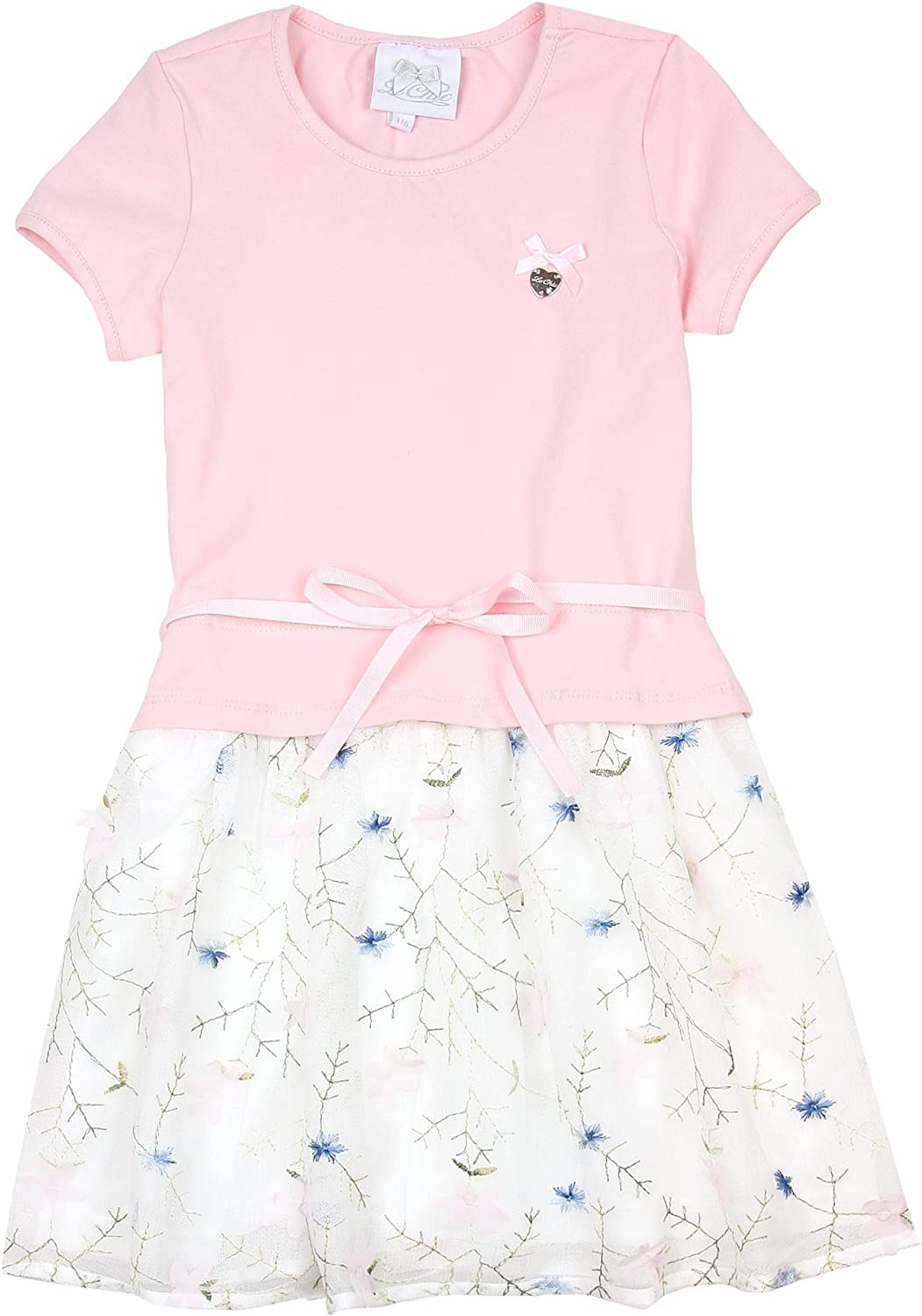 Le Award Chic Girl's Embroidered Tulle 4-14 Limited time for free shipping Sizes Pink Dress in