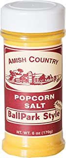 Amish Country Popcorn | Ballpark ButterSalt Popcorn Salt - 6 oz Bottle | Old Fashioned with Recipe Guide (6 oz Bottle)