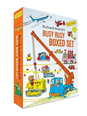 Richard Scarry's Busy Busy Boxed Set: Busy Busy Airport; Busy Busy Cars and Trucks; Busy Busy Construction Site; Busy Busy Farm (Richard Scarry's BUSY BUSY Board Books)