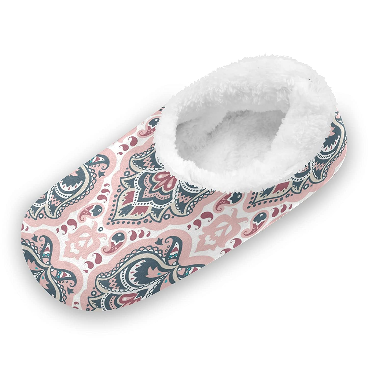 Bombing free shipping Ethnic Indian Mandala Floral Fuzzy Slippers Women Feet Popular product Cute for