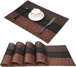 04 pi/èce - Astre Set de table de qualit/é sup/érieure COM-FOUR/® 4 pi/èces Set de tableAstre Set de table moderne au design vintage