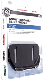 Arnold OEM-784-5580 MTD Parts Snow Thrower Slide Shoes, 1 Pack, Black