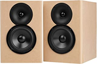 Parts Express C-Note MT Bookshelf Speaker Kit Pair with Knock-Down Cabinets