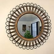 Amazon Com Stratton Home Decor Stratton Home Decor 33 86 Tulum Rattan Mirror Pack Of 1 Natural Home Kitchen