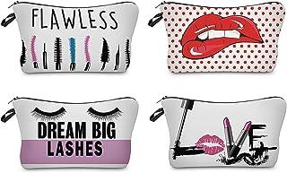 4 قطع من فوكوس حقائب مكياج صغيرة للسفر حقيبة يد لمستحضرات التجميل حقيبة يد مضادة للماء للنساء الفتيات