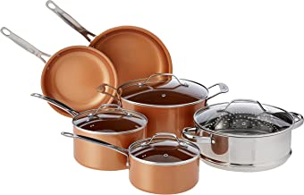 Gotham Steel 10-Piece Nonstick Frying Pan and Cookware Set - Graphite