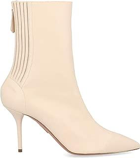 AQUAZZURA Luxury Fashion Womens SHOMIDB1NAPCRM Beige Ankle Boots |