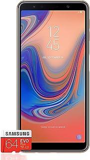Galaxy A7 (2018) Smartphone Bundle [6 Zoll, 64GB, 24 Megapixel] + Samsung Evo Plus 64 GB Speicherkarte [Exklusiv Bei Amazon]