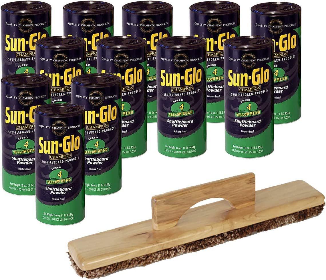 Sun-Glo 12 Cans #4 Yellow Wax Bear A surprise price depot is realized Sweep Shuffleboard 1