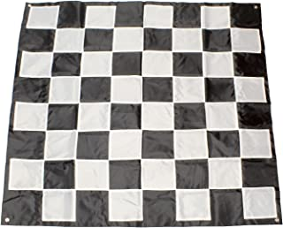 Get Out! Giant Checkers Board Outdoor Games for Family – 9x9ft Plastic Checkers Rug, Big Checker Board Checkers Mat