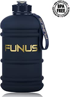 FUNUS Big Water Bottle 1.3L-2.2L Odorless Water Jug BPA Free Hydro Jug Leak Proof Reusable Big Capacity for Men Women Fitness Gym Outdoor Climbing