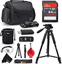 PRO Accessories kit for Olympus OM-D E-M10 III, OM-D E-M1 Mark II, OM-D E-M10 II, E-M10, E-M5 II, Pen E-PL8, E-PL7 Cameras Includes: 64GB SD Memory Card + Premium Camera Case + 72