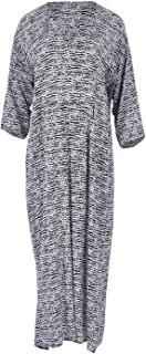 Bird Keepers Womens Maxi Dresses The Printed Pocket Maxi Blackwhite