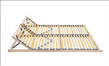 Somier de láminas ECOFORM con cabezal ajustable y dureza 120/140/160/180/200 x 200 cm, marco de madera con muelle 200 x 200 cm