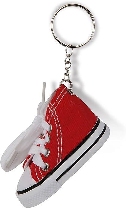 Simpatico portachiavi a forma di scarpa scarpetta stile Converse ...