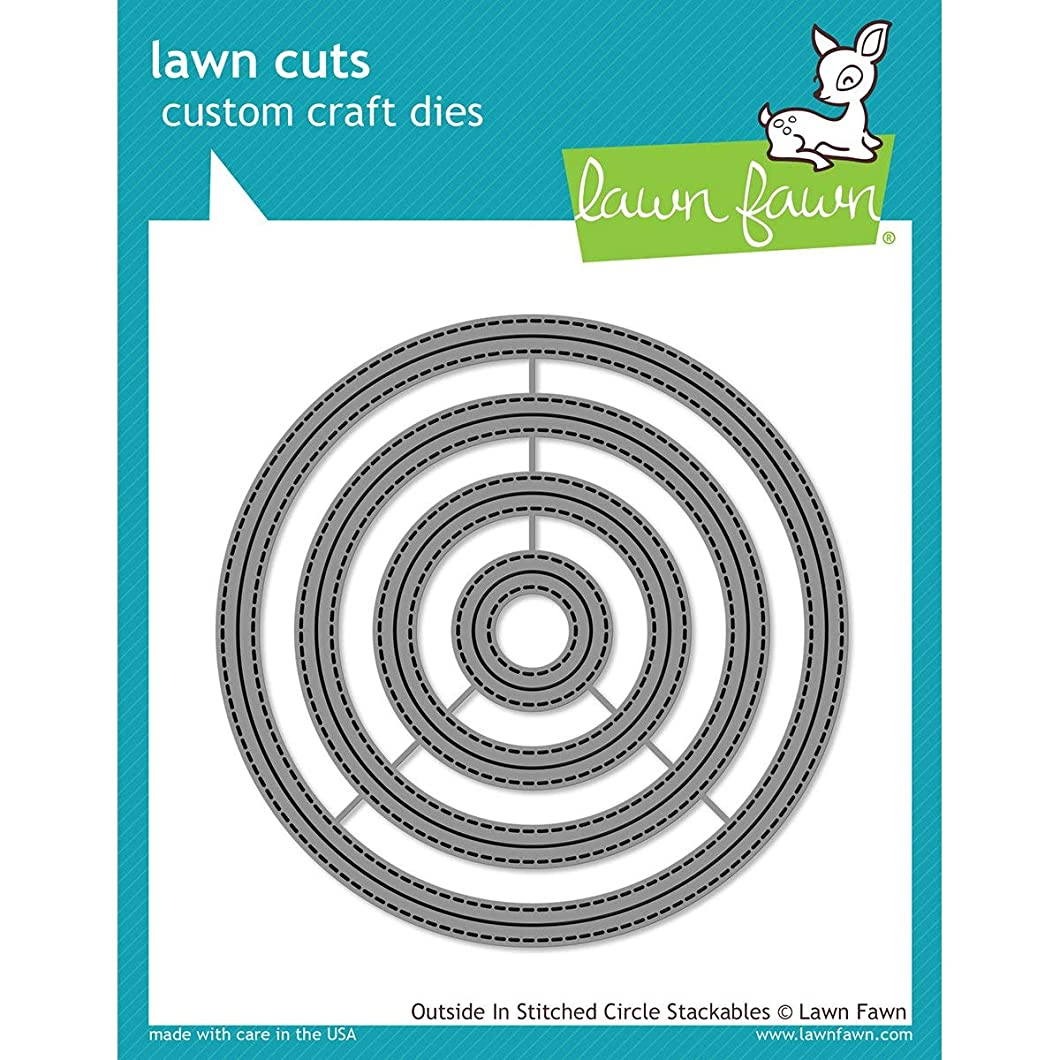 Lawn Fawn Lawn Cuts Custom Craft Die - Outside In Stitched Circle Stackables (LF1441) miykkfd91