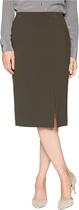 Bi-Stretch Pencil Skirt with Front Slit
