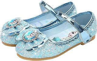 Beunique Fille Doux Sandales Reine des Neiges Elsa Anna Talons Plats Paillettes Chaussures de Princesse Argenté Bleu Rose ...