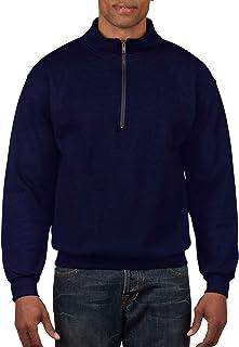Gildan Men's Fleece Quarter-Zip Cadet Collar Sweatshirt, Style G18800