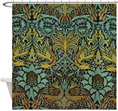 CafePress Peacock and Dragon William Morris Tapestry Design Decorative Fabric Shower Curtain (69
