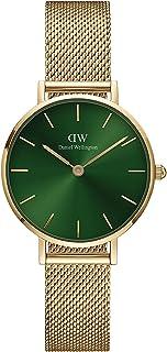 Daniel Wellington Petite Emerald Gold Mesh Strap Green Dial Watch