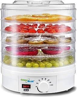 GreenBlue GB190 Déshydrateur de fruits et légumes350W 5 tiroirs transparents 35-70°C