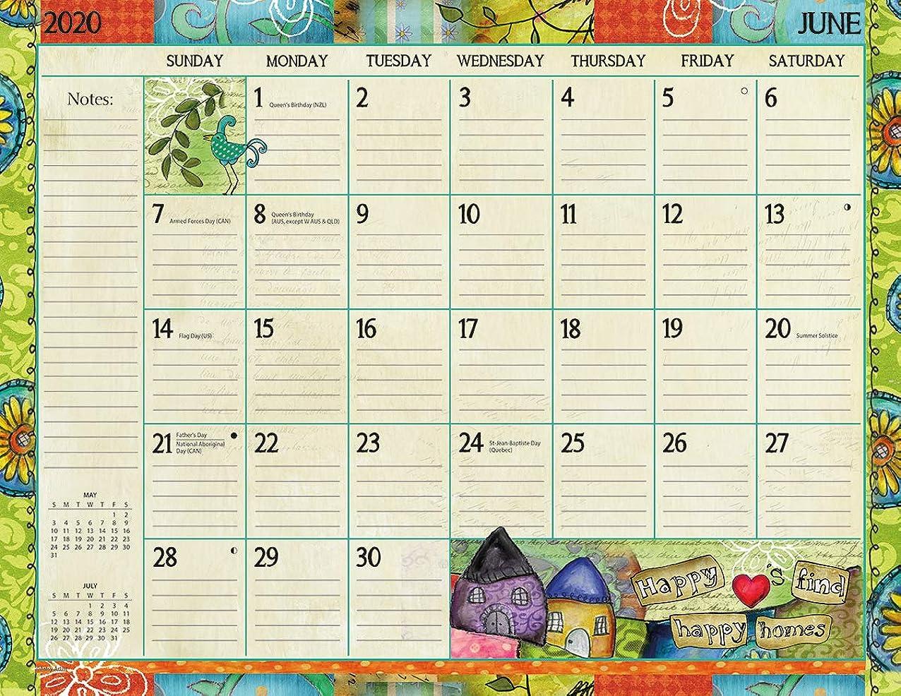私一緒後継Lang Color My World 2020 デスクパッドカレンダー (20991010026)