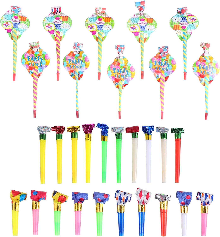 TOYANDONA 30pcs Blowout Whistle New item Musical Outs Party Ki Blow Horns Outlet sale feature